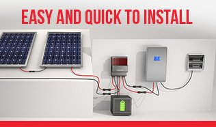 Storage System Solar Eclipse - Easy and quick to install