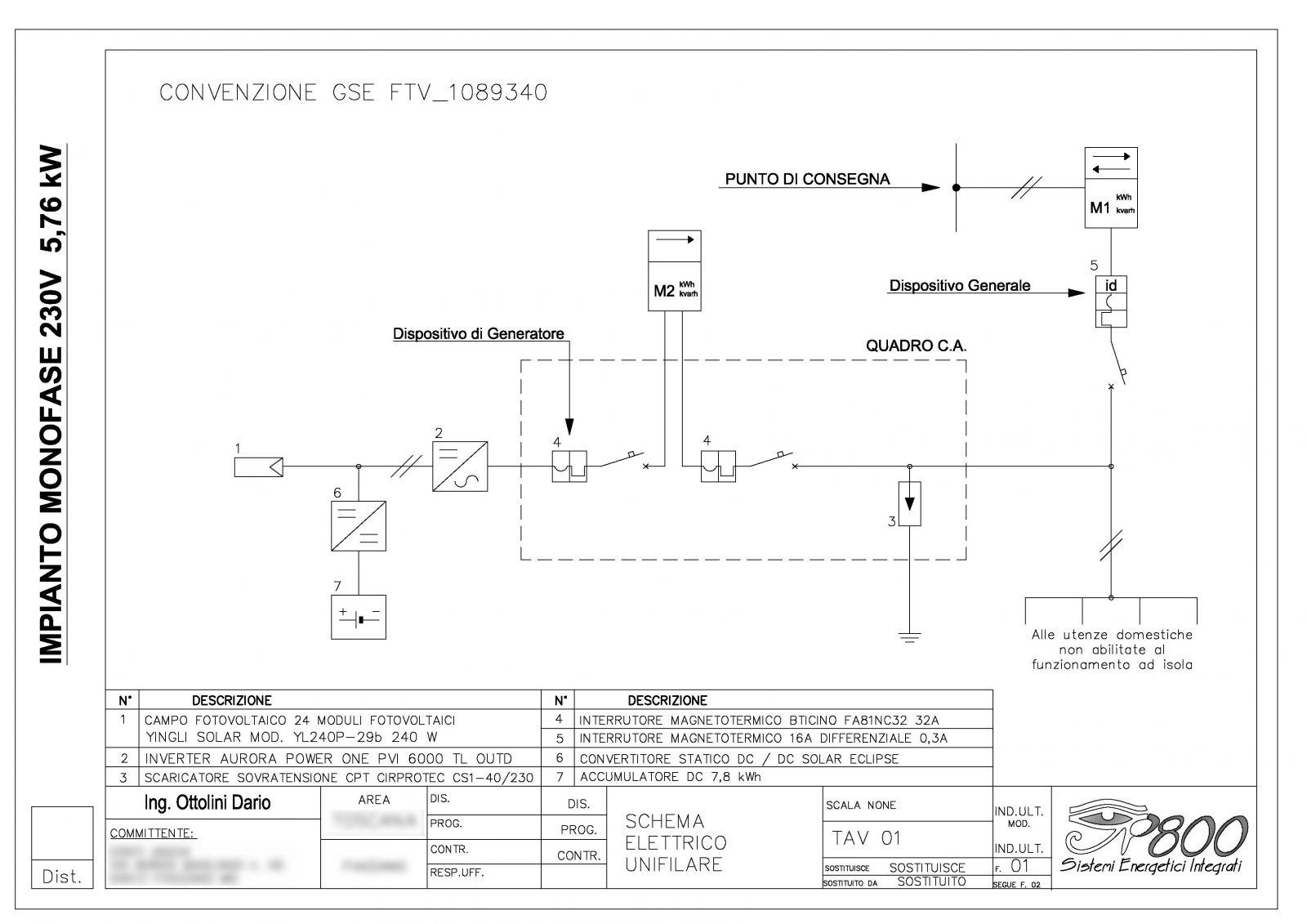 Schema Elettrico Impianto Fotovoltaico Da Kw Alessandro D Aloia